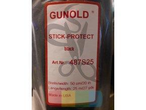 ochranná nažehlovací tkanina proti škrábání - černá