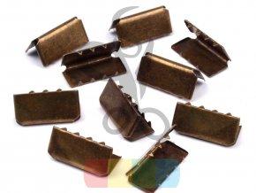 zakončení kovové 20 mm, barva mosaz