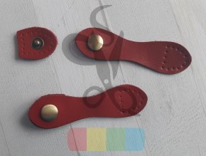 zapínání kožené piškot - červené
