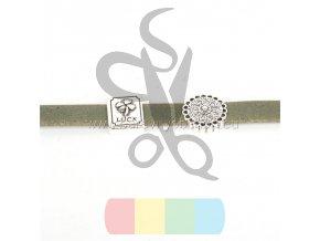 korkový pásek 10 mm  - zelený