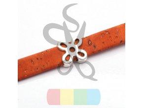 korkový pásek 10 mm - barva oranžová tmavší
