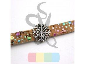 korkový pásek 10 mm - barva hnědá s barevnými kousky