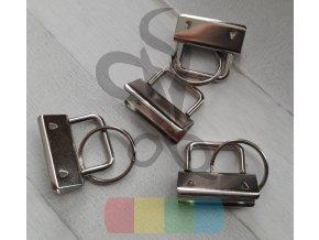 koncovka na klíčenku s kroužkem - stříbrná - 32 mm