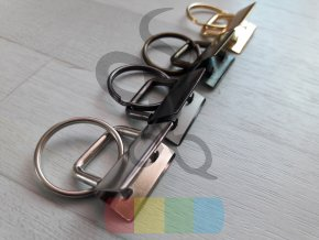 koncovka na klíčenku s kroužkem - stříbrná - 25 mm