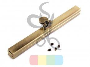 rámeček na výrobu kabelky 1 x 12 cm vkládací - mosazný