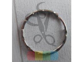 kroužek klíčový ozdobný - stříbrný - 23 mm