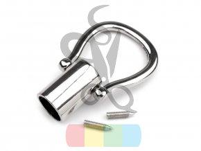 zakončení kovové na šňůru průměr 12 mm, barva stříbrná