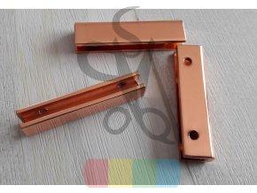 kovový okraj na tašku nebo peněženku - růžové zlato