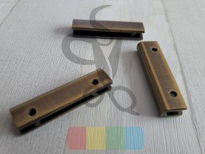 kovový okraj na tašku nebo peněženku - mosazný