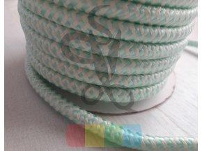 šňůra polyesterová hladká průměr 10 mm, barva bílá-mint