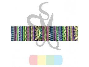 popruh polyesterový 4 cm, vzor LÉTO