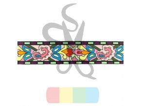 popruh polyesterový 4 cm, vzor ORNAMENT