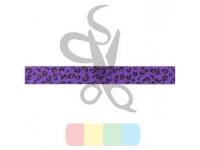 lemovka založená - imitace kůže - 20 mm - fialový panter