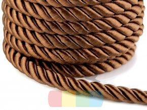 šňůra kroucená, průměr 10 mm,  barva měděná (tmavě hnědá)