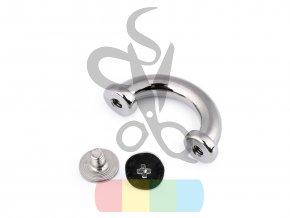 průvlek šroubovací šíře 15 mm  - stříbrný