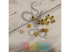 opaskový šroubek 5 mm - zlatý