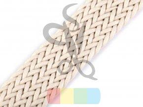 splétaný popruh, šíře 3 cm, barva - světlá režná