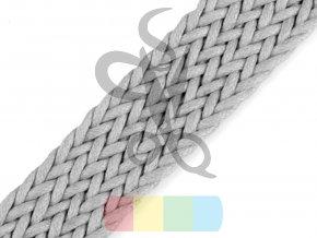 splétaný popruh, šíře 3 cm, barva - světlá šedá