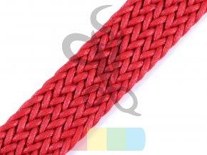 splétaný popruh, šíře 3 cm, barva - červená