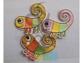 nažehlovačka - chameleon