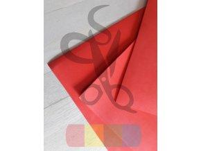 puffy pěna - 30 x 50 cm, tloušťka 3 mm, barva červená