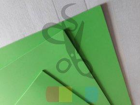 puffy pěna - 28 x 46 cm, tloušťka 3 mm, barva zelená