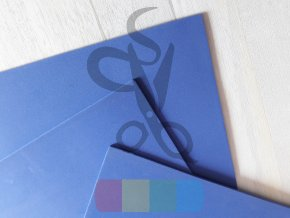 puffy pěna - 28 x 46 cm, tloušťka 3 mm, barva modrá