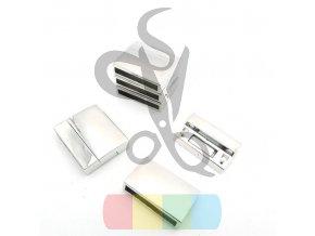 magnetické zapínání široké 15 mm - stříbrné