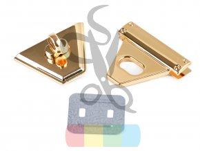 zapínání na kabelku 47 x 50 mm - zlaté