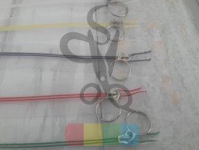 zip transparentní s barevnou spirálou 25 cm - více barev