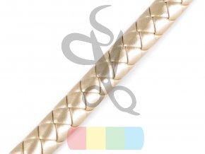ucha na tašky splétaná - průměr 12 mm - barva zlatá