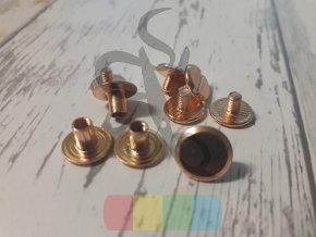 opaskový šroubek 5 mm - růžové zlato