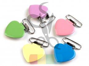šlový závěs - srdce - více barev