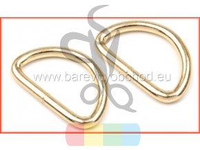 Polokroužek šíře 30 mm - zlatá