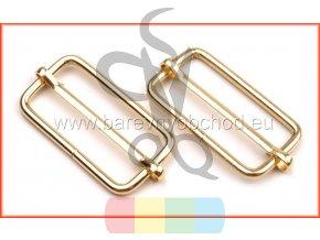 Posunovač na popruhy 33x15 mm - zlatá