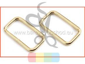obdélníkový průvlek 25 x 13 mm - zlatý