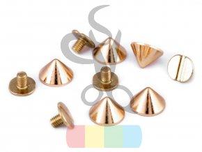 ozdobný nýt/nožky ke kabelce šroubovací - zlatý