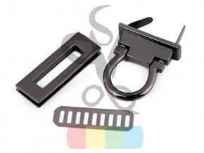 zapínání na kabelku 17x45 mm černý nikl