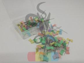 špendlíky patchworkové- motýlek  - 100 ks