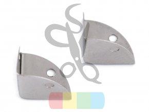 kovový rožek na kabelky 22x22x22 mm - stříbrný