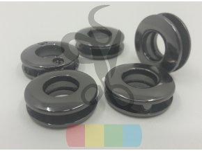 šroubovací průchodka 10 mm  - černý nikl