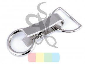 zapínání ozdobné délka 66 mm - stříbrné