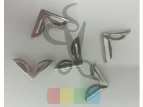 rožek kovový - obloučky 16 x 16 mm - stříbrný