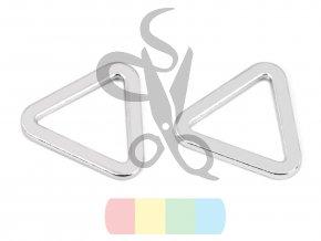trojúhelník plochý šíře 20 mm  - stříbrný