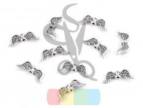 andělská křídla 8x20 mm - stříbrná