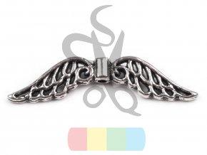 andělská křídla 8x30 mm - stříbrná