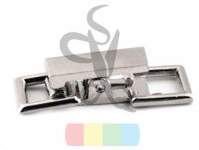zapínání 9 x 26 mm - stříbrné