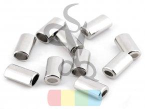 kovová koncovka na šňůry - stříbrná