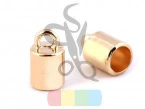 koncovka s očkem prům. 4 mm - zlatá