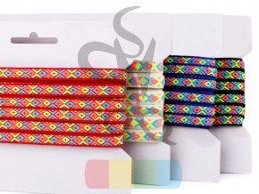 prýmek s indiánským motivem neon - 10 mm - různé barvy
